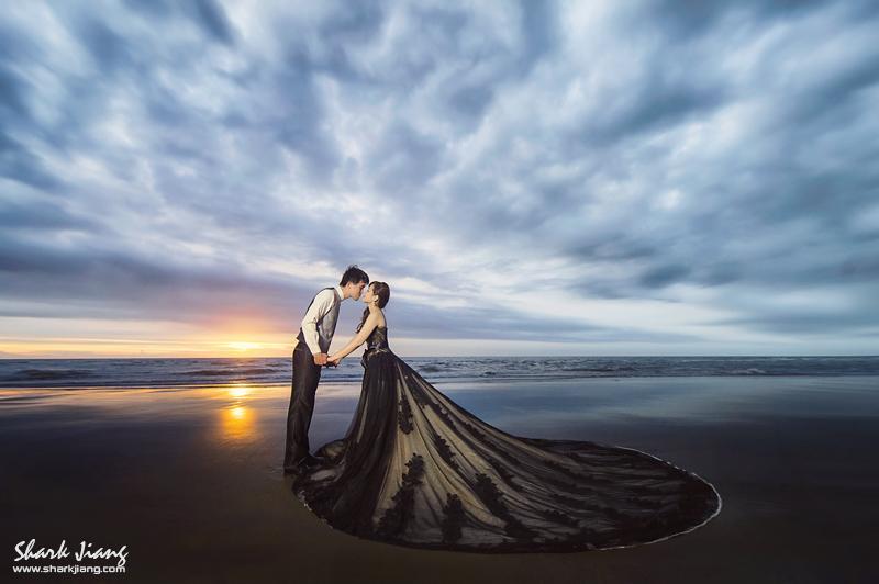 黑色婚紗禮服